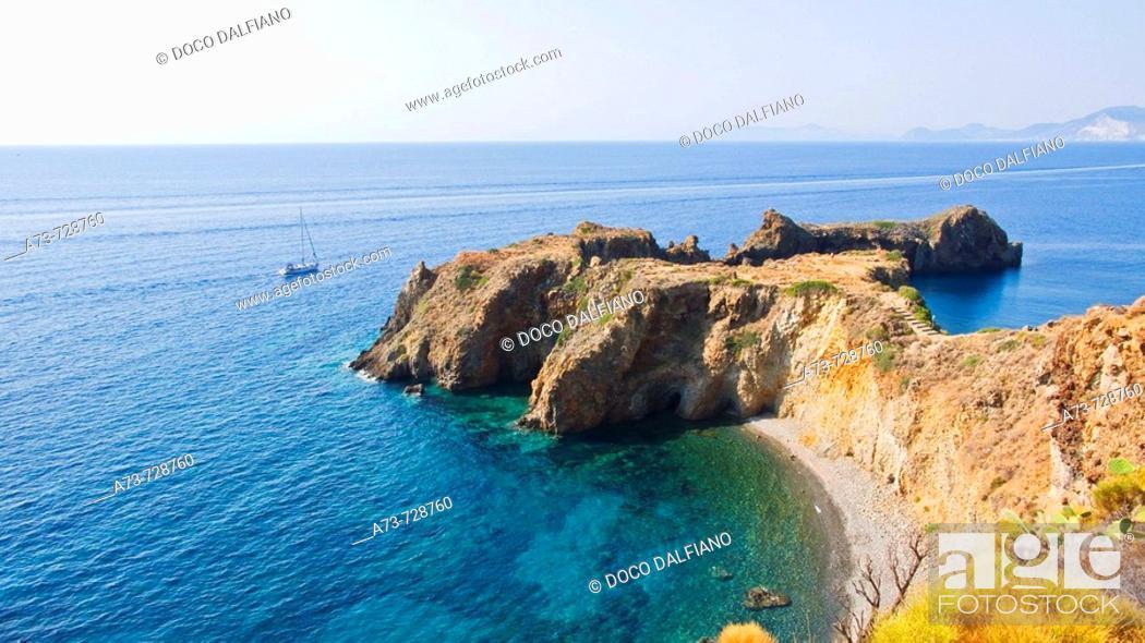 Stock Photo: Punta Milazzese, Panarea, Eolian Islands, Sicily, Italy.
