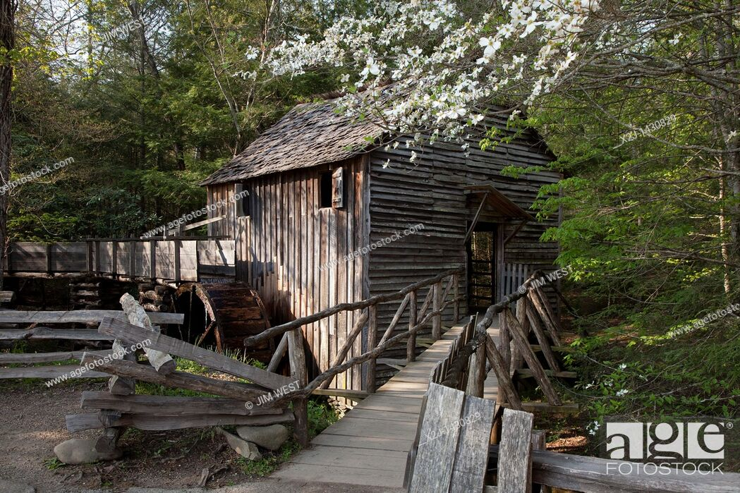 Stock Photo: Great Smoky Mountains National Park, Tennessee - The John P  Cable Grist Mill in Cades Cove.