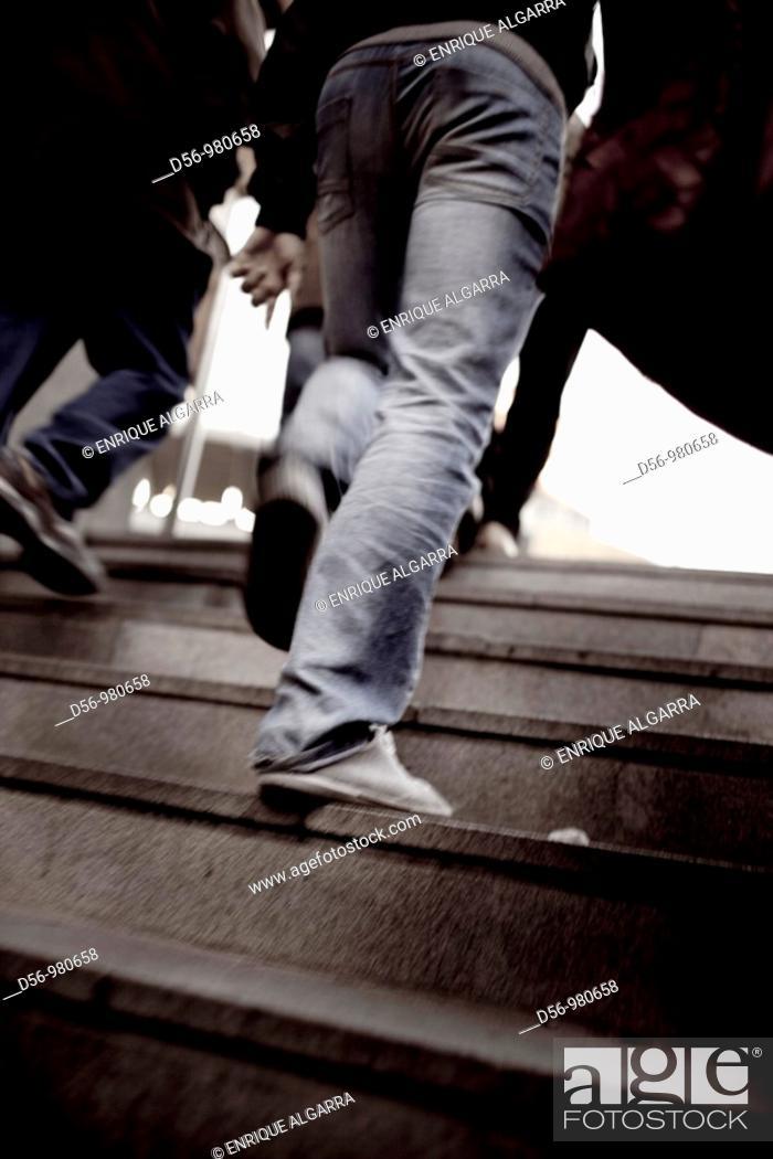Stock Photo: pedestrians.