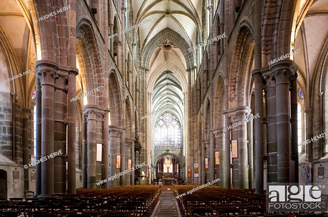 Stock Photo: France, Ille et Vilaine, Dol de Bretagne, Saint Samson Cathedral with Gothic style.