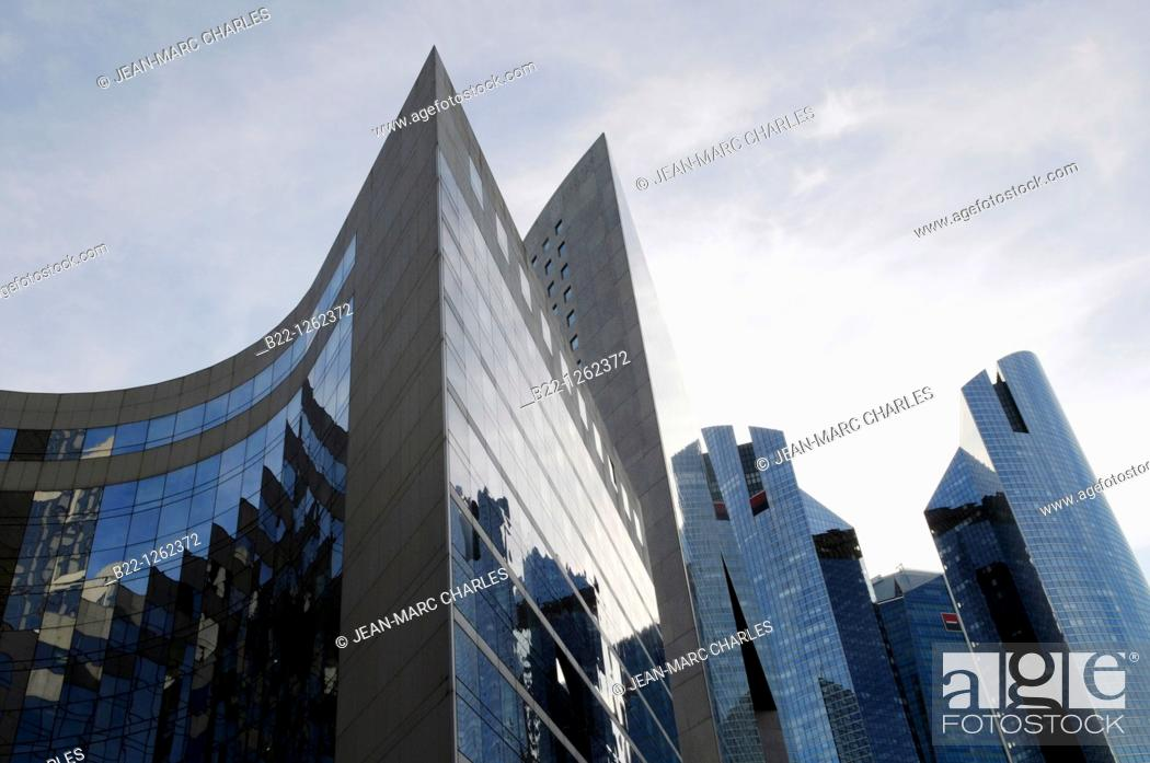 Stock Photo: Buildings of the business sector Paris La Défense, Paris, France.