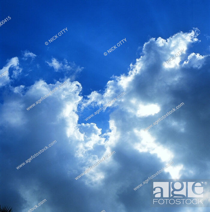 Stock Photo: Clouds and blue sky.