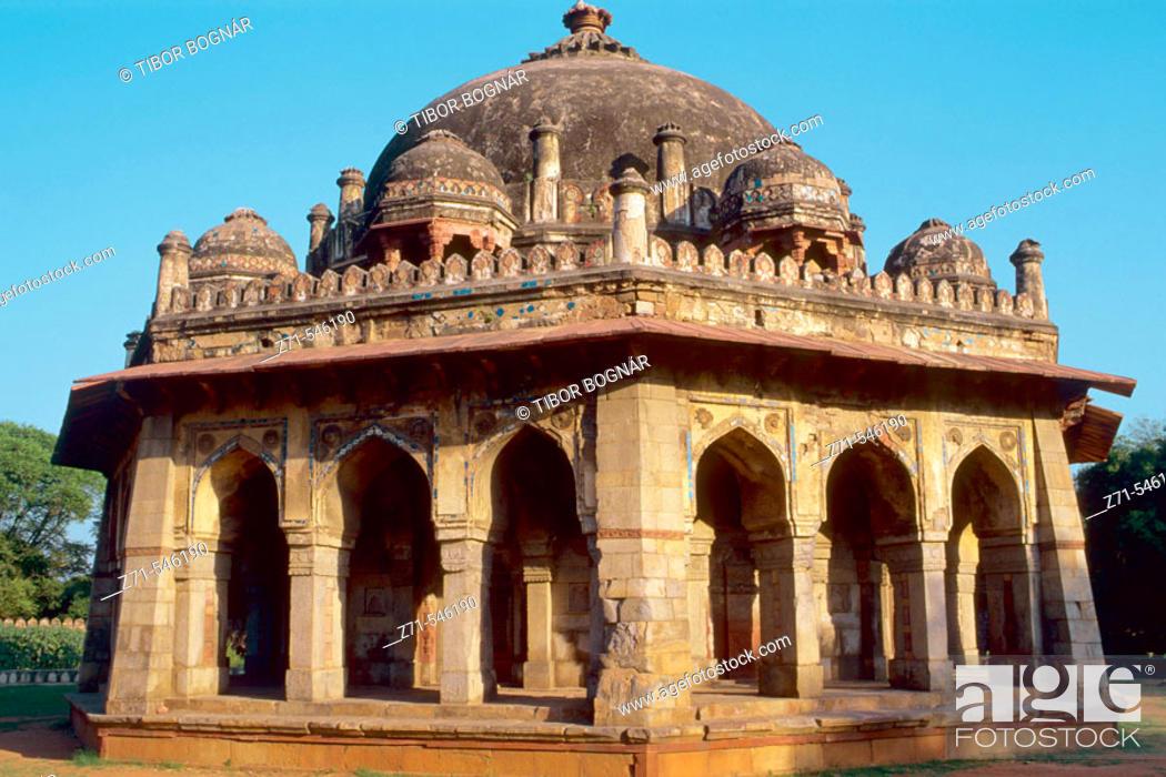 Stock Photo: Isa Khan's Tomb. Delhi. India.