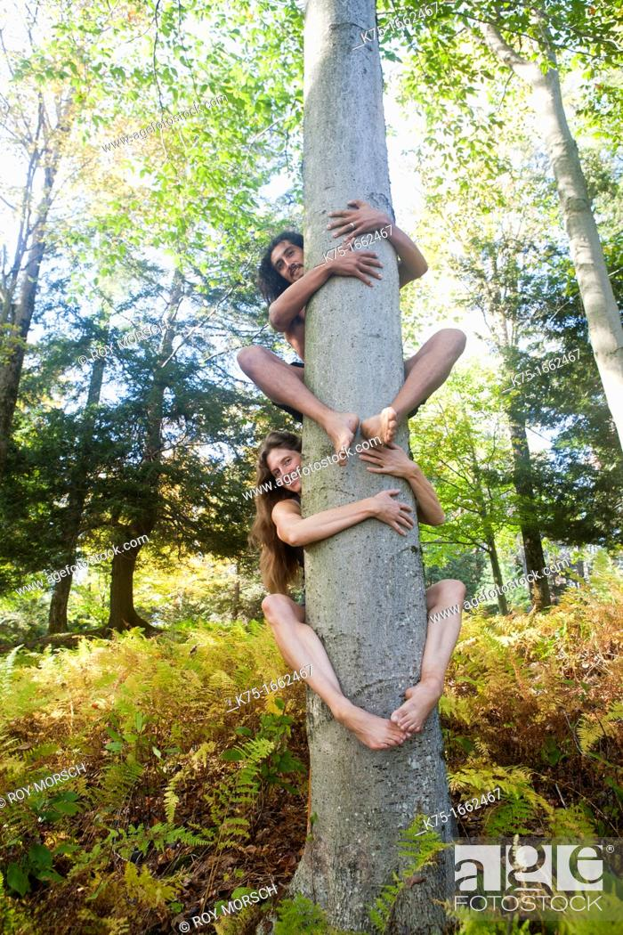 Stock Photo: Tree huggers.