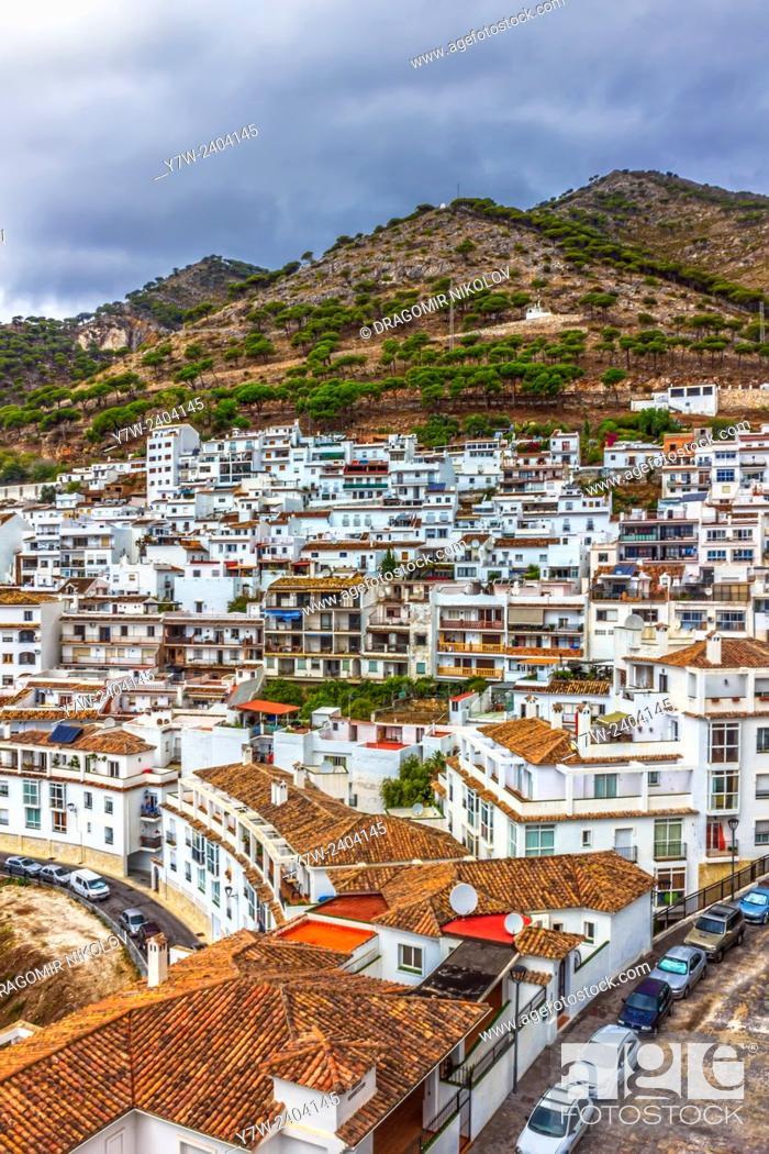 Stock Photo: White village Mijas in Malaga, Spain.