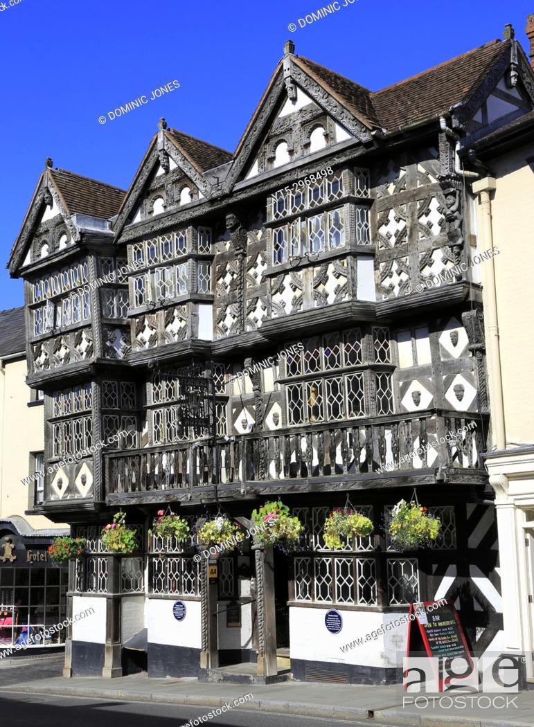 Stock Photo: The Feathers Hotel , Ludlow, Shropshire, England, Europe.