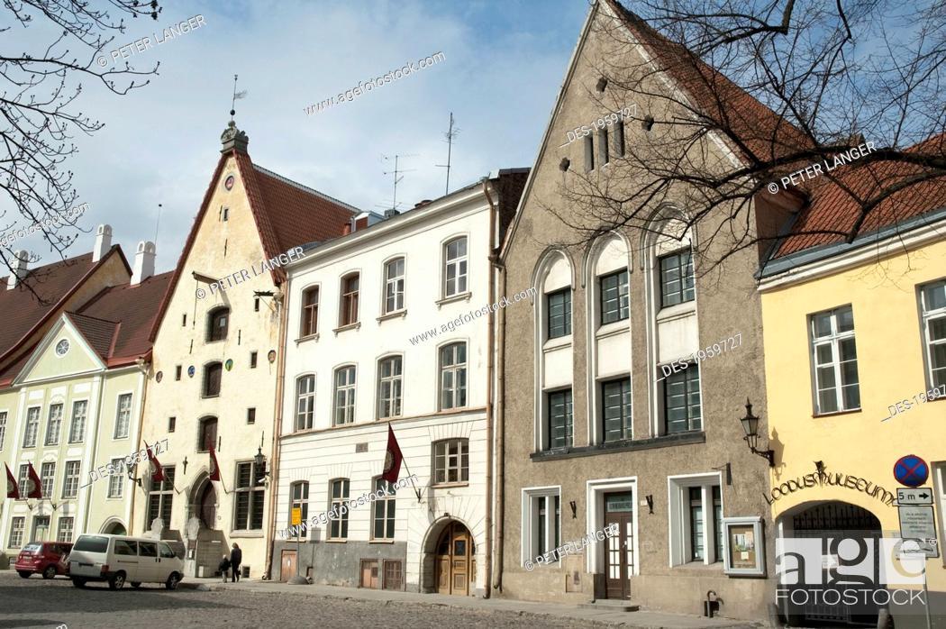 Stock Photo: Street Scene In The Old Town Of Tallinn, Estonia.