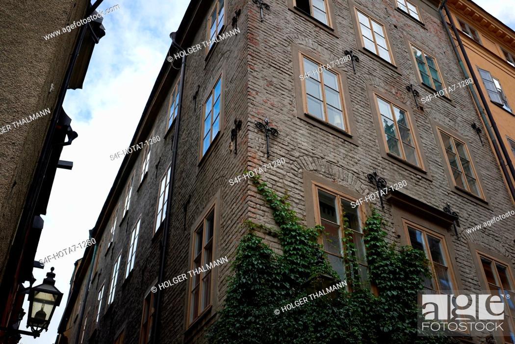 Stock Photo: Schweden, Stockholm, Hausfassade.
