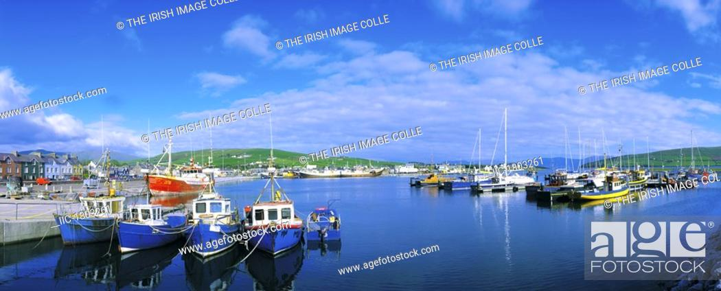 Stock Photo: Co Kerry, Dingle Town & Harbour.
