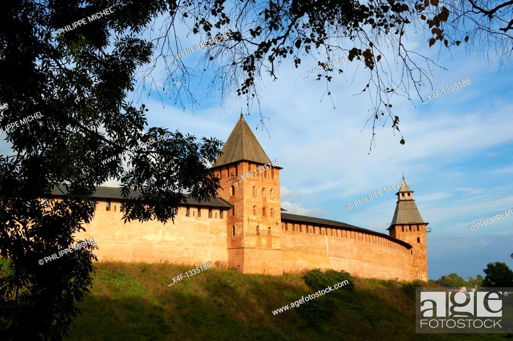 Stock Photo: Russia, Rossiya, Novgorod Oblast, Novgorodskaya Oblast, Veliky Novgorod, Kremlin, Unesco world heritage.