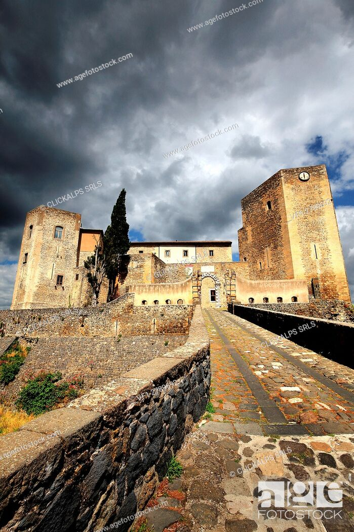 Stock Photo: Gateway to the Norman Castle of Melfi, Basilicata, Italy.