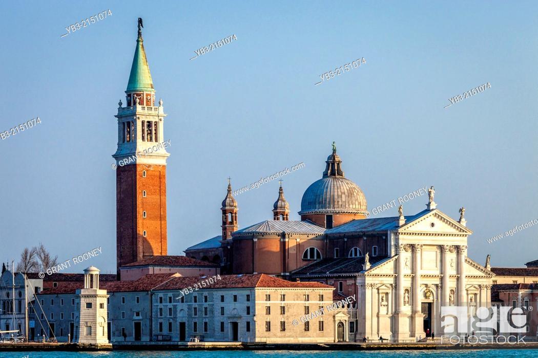 Stock Photo: The Island of San Giorgio Maggiore, Venice, Italy.