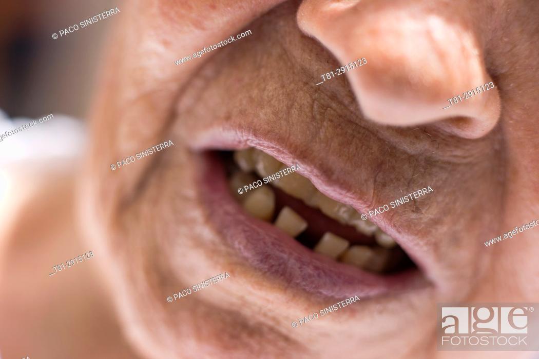 Stock Photo: Wrinkles, Old, Spain.