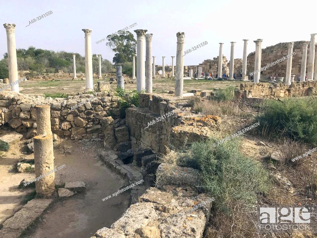 Stock Photo: Salamis. Roman bath.