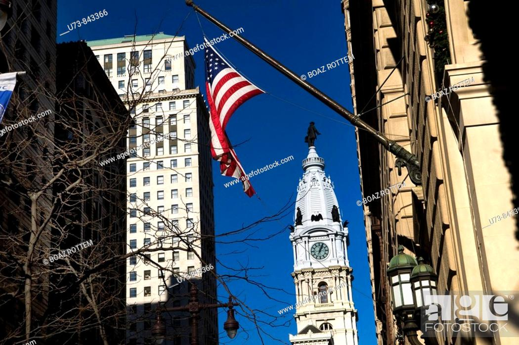 Stock Photo: Beautiful buildings in Old parts of Philadelphia.