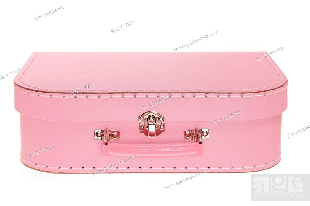 Stock Photo: Suitcase on White Background.