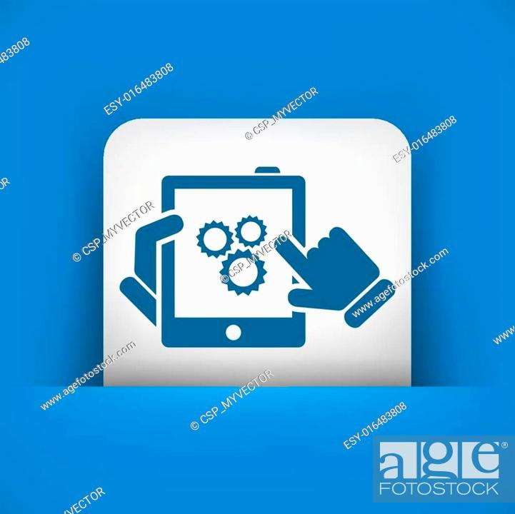 Stock Vector: Setting device.