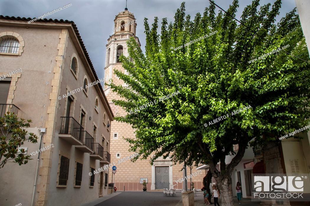 Stock Photo: Church, Cubelles, Catalonia Spain.