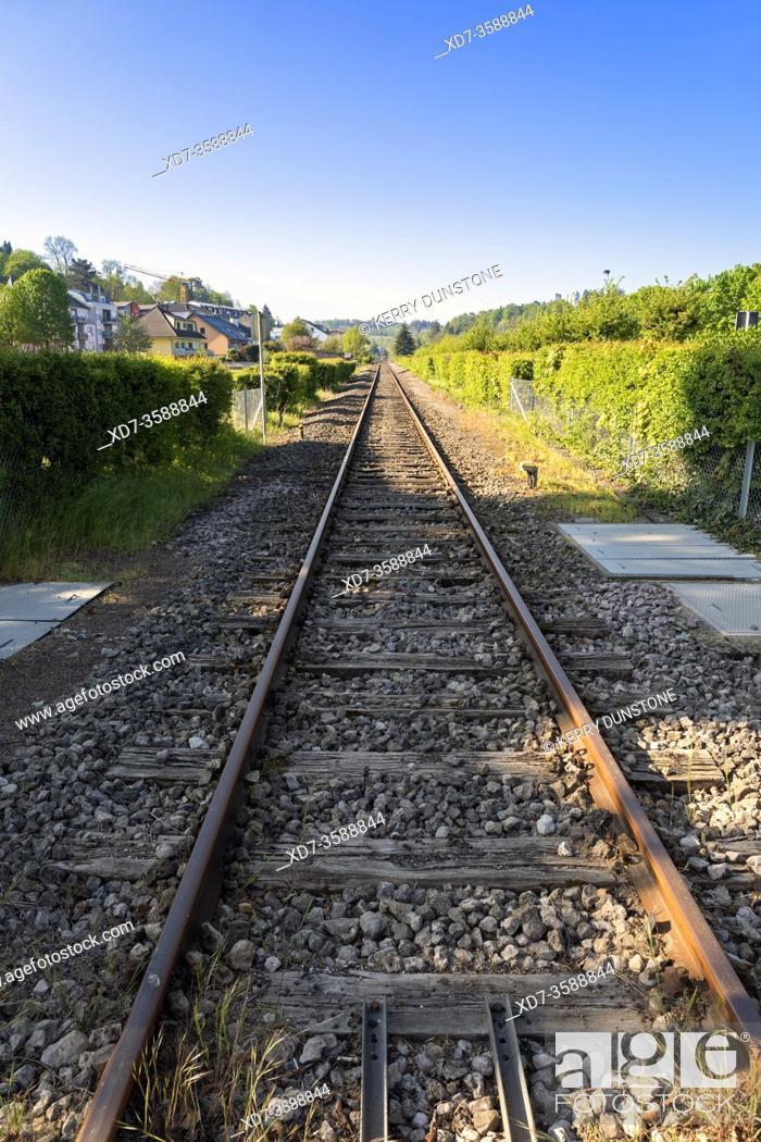 Imagen: Europe, Luxembourg, Colmar-Berg, Railway Line near Rue de Mertzig.
