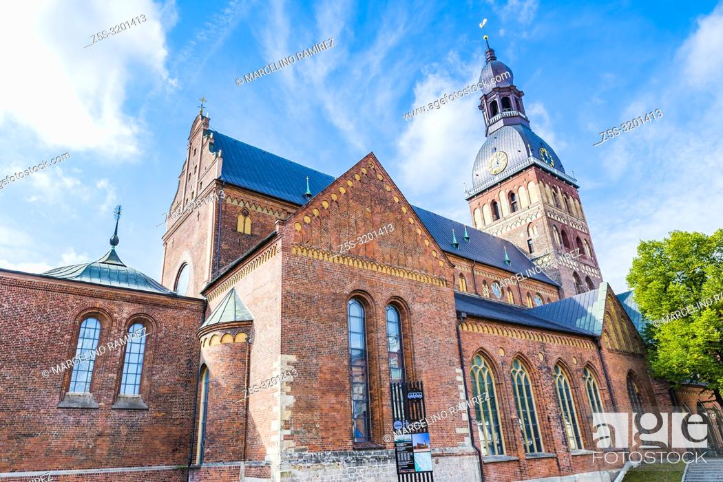 Stock Photo: Riga Cathedral is the Evangelical Lutheran cathedral. The cathedral is one of the most recognizable landmarks in Latvia, Riga, Latvia, Baltic states, Europe.