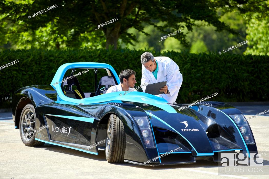 Photo de stock: Dynacar, electric vehicle, Researchers work in electric car, Industry Unit, Automotive Industry, Technology Centre, Tecnalia Research & Innovation, Derio.