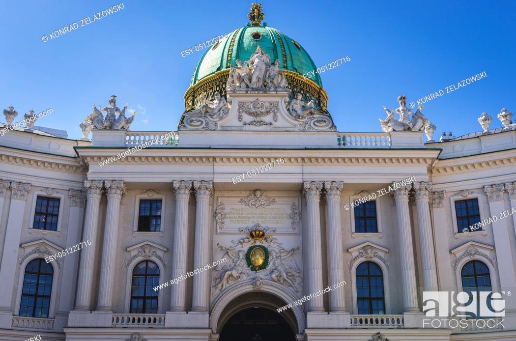 Stock Photo: St Michael's Wing of Hofburg Palace in Vienna, Austria.
