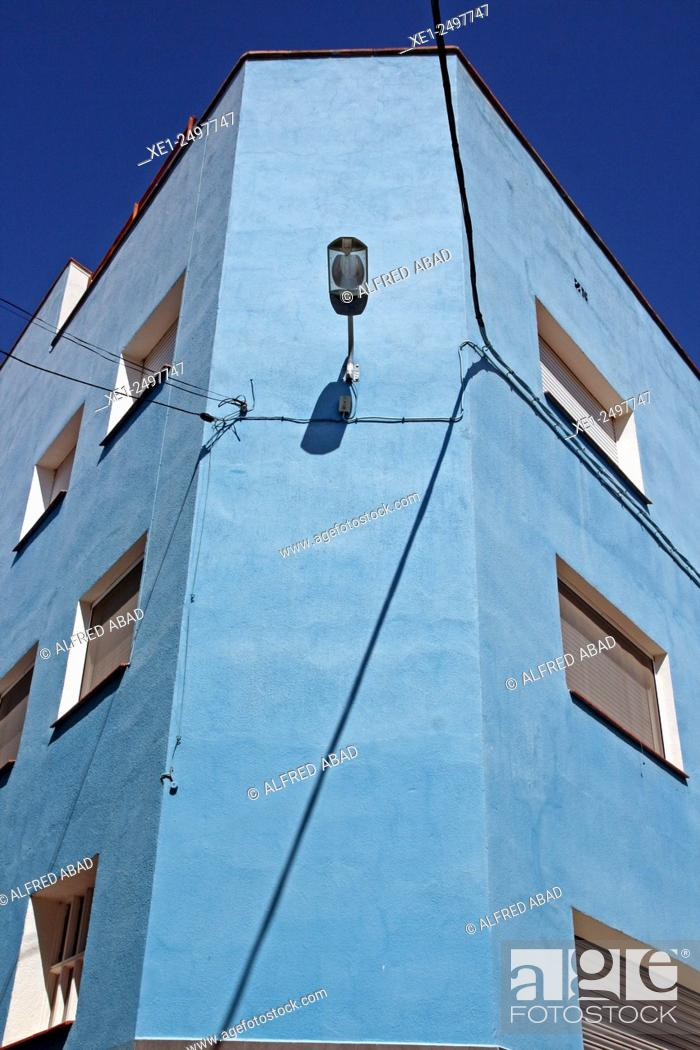 Stock Photo: Residential building, Odena, Anoia, Catalonia, Spain.