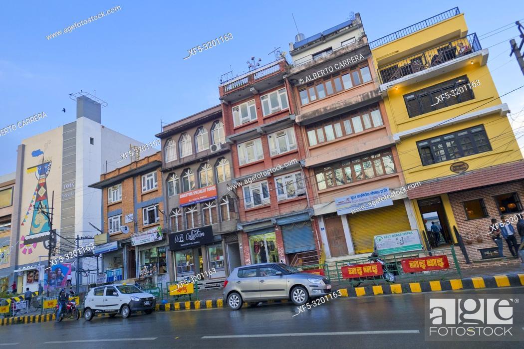 Imagen: Street Scene, Kathmandu, Nepal, Asia.