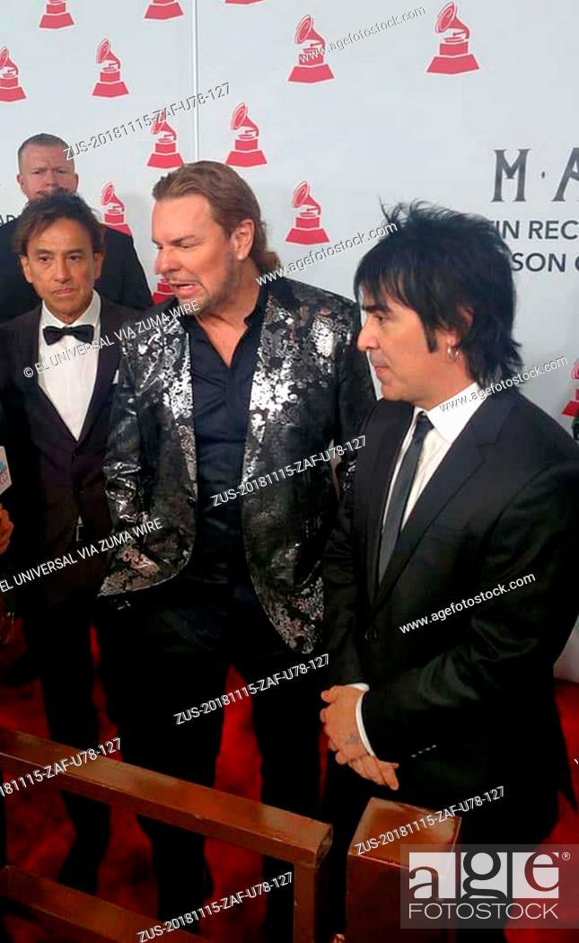 Imagen: November 15, 2018 - EUM20181115ESP20.JPG.LAS VEGAS, Nevada, EU., MusicMúsica-Grammy.- El grupo de rock pop Maná fue homenajeado la noche de este miércoles por.