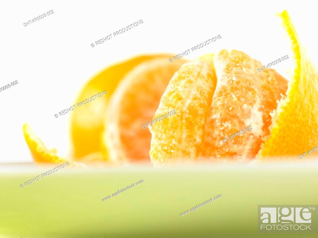 Stock Photo: Open Satsuma fruit.
