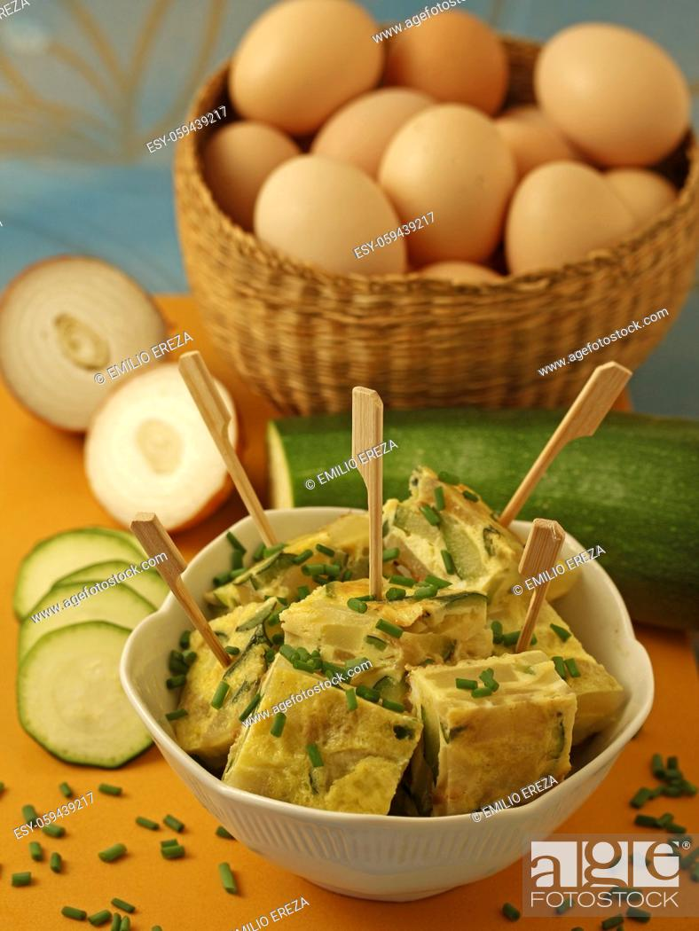 Stock Photo: Zucchini omelet.