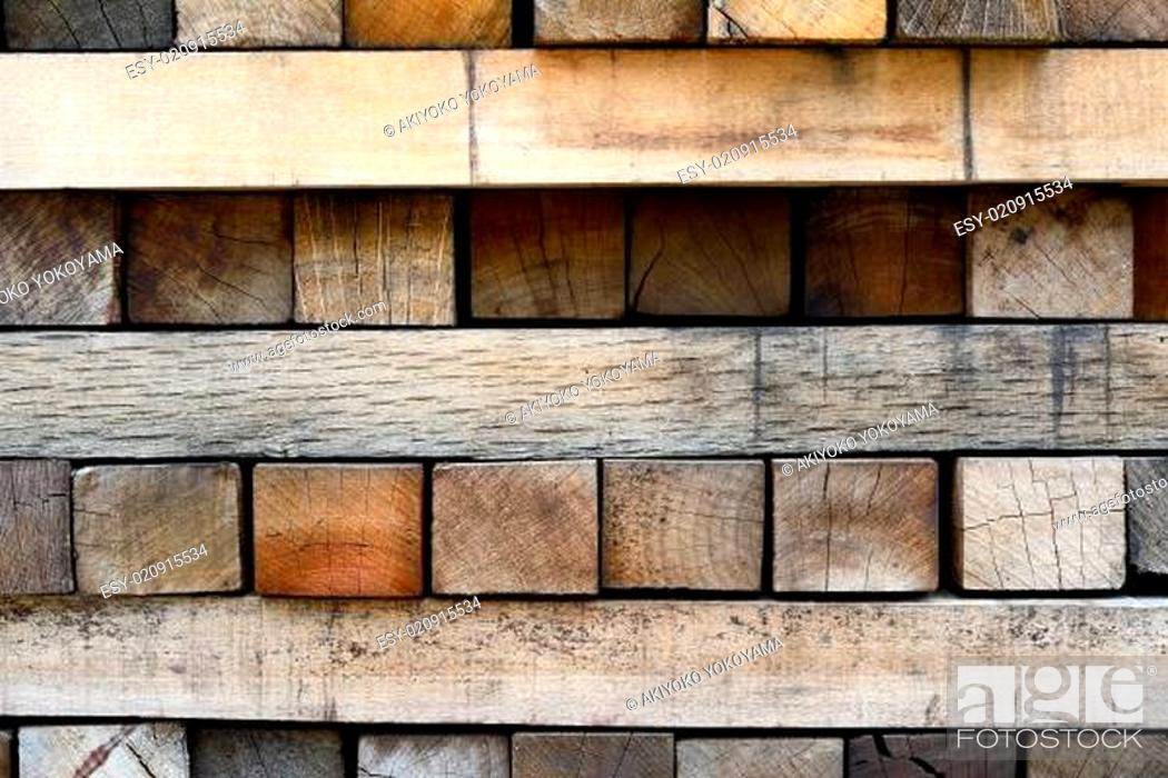 Stock Photo: detail of old wood planks surface, texture background.
