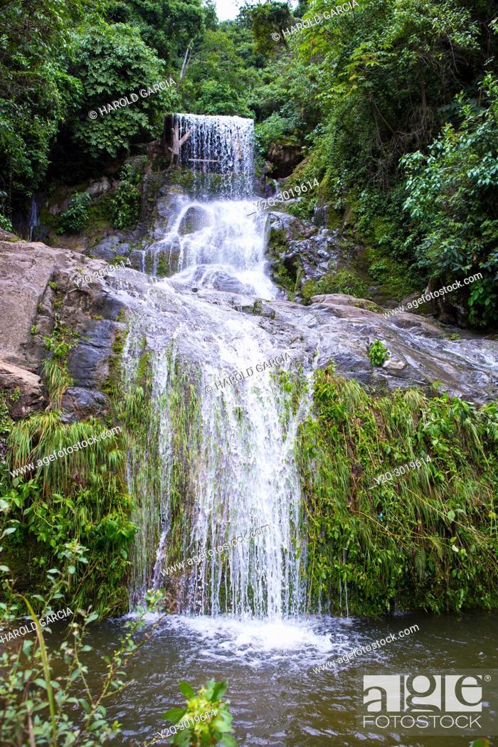 Imagen: Azufrada waterfall in rain forest near La Plata, Colombia.
