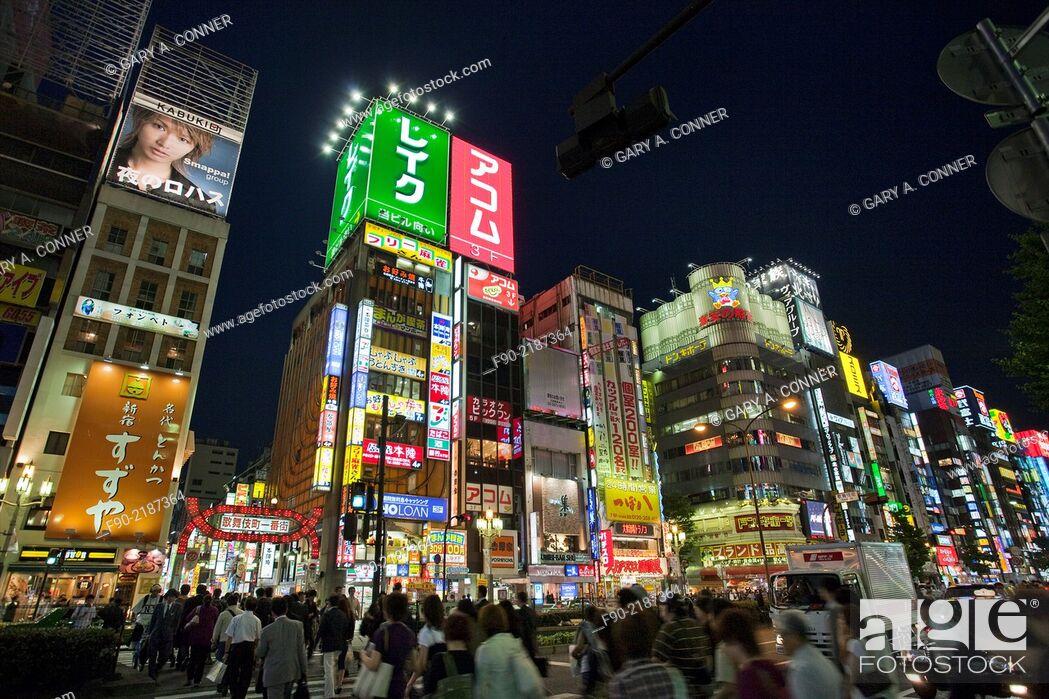 Imagen: Rush hour in the evening in Shinjuku, Tokyo, Japan.