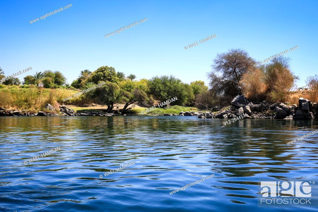 Stock Photo: Nile, Aswan, Nubia. Egypt.