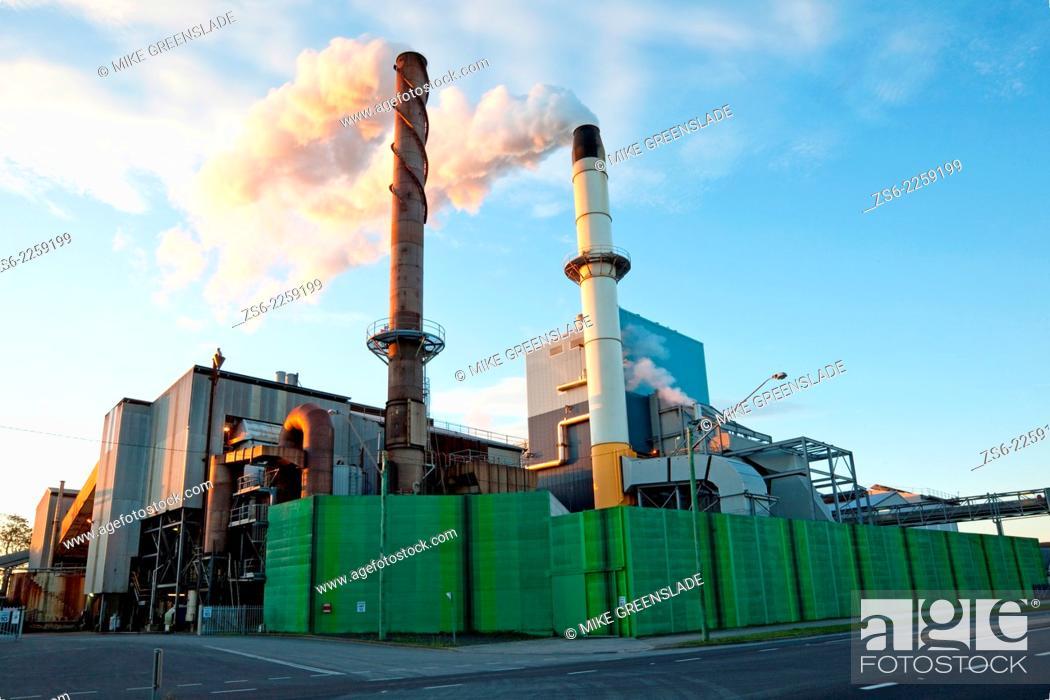 Stock Photo: Broadwater Sugar Mill, Broadwater, New South Wales, Australia.