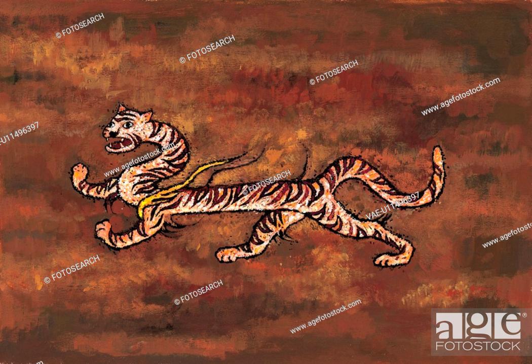 Stock Photo: mythology, tiger, mythical, myth, tradition, creature, animal.