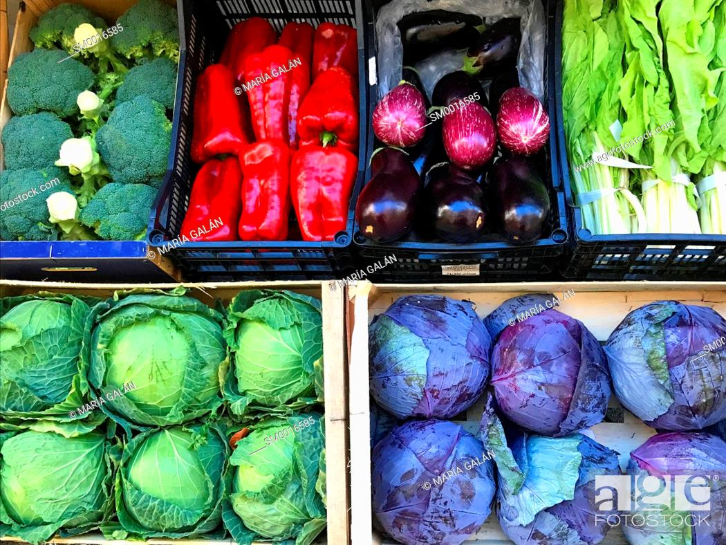 Stock Photo: Assorted vegetables.