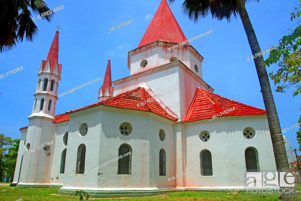 Stock Photo: hermitage of Nuestra Señora de las Mercedes del Cabrero, Cartagena de Indias, Colombia.