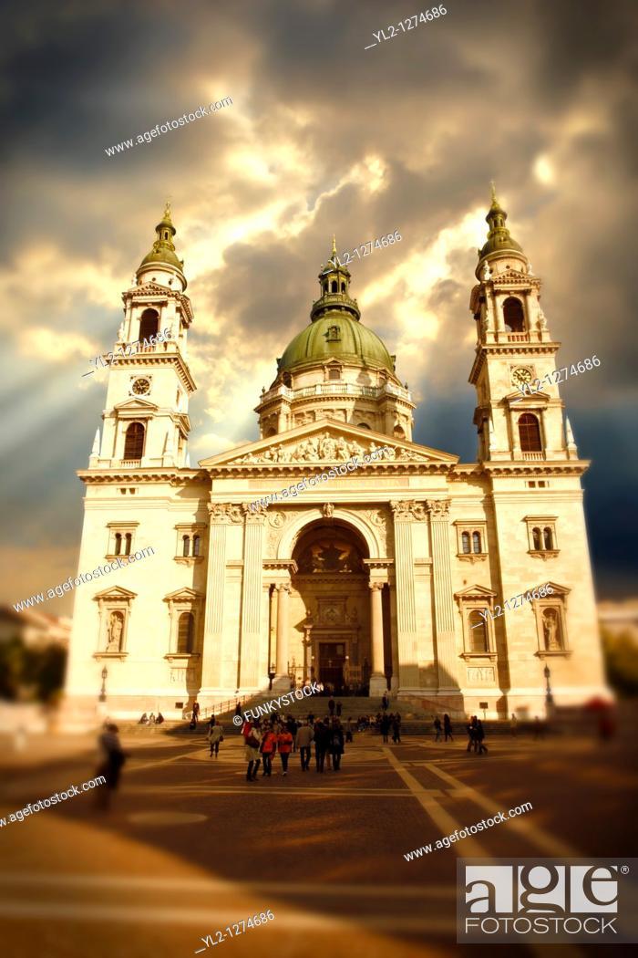 Stock Photo: St Stephen's Basilica,  Szent Istvan Bazilika  , Neo Classical building, Budapest, Hungary.