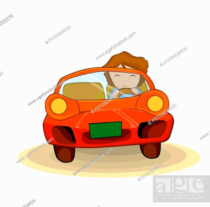 Stock Photo: people, 20-39 years, one person, person, drive.