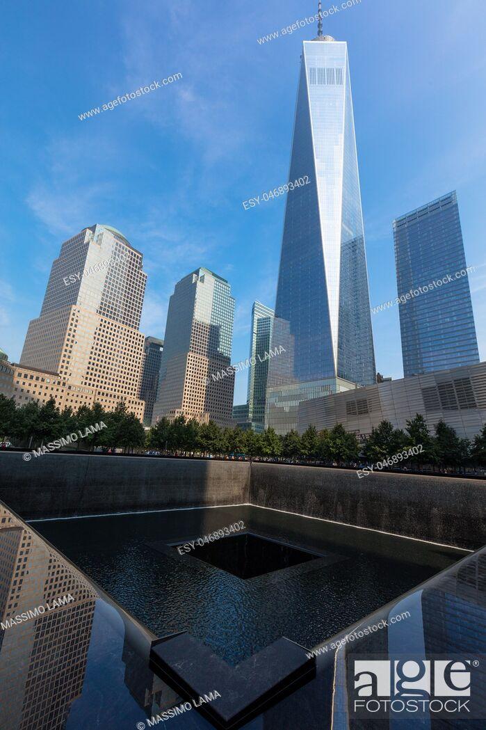Imagen: Trade world center today: The memorial 9. 11 in Financial district, Manhattan.
