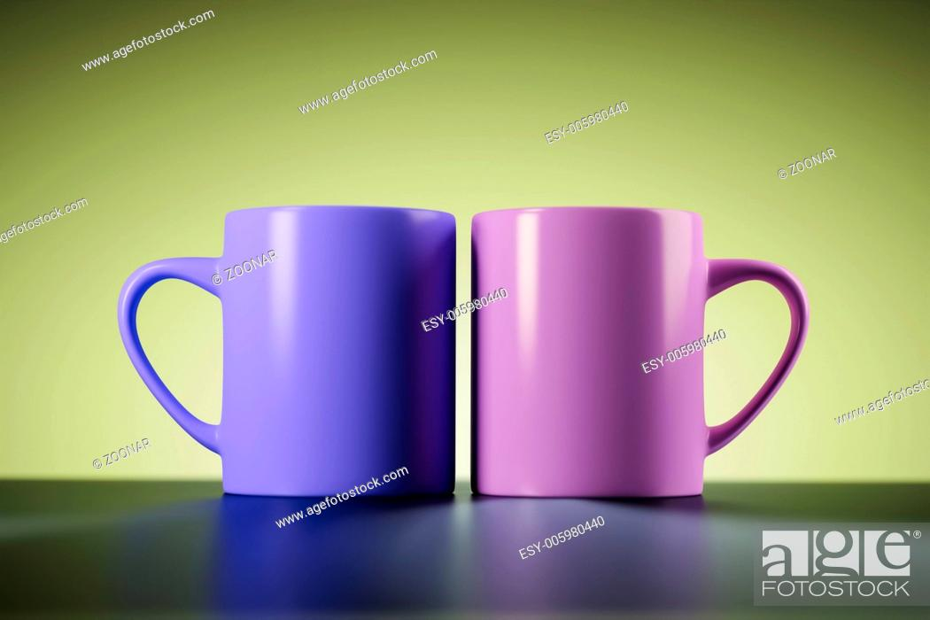 Stock Photo: two coffee mugs.