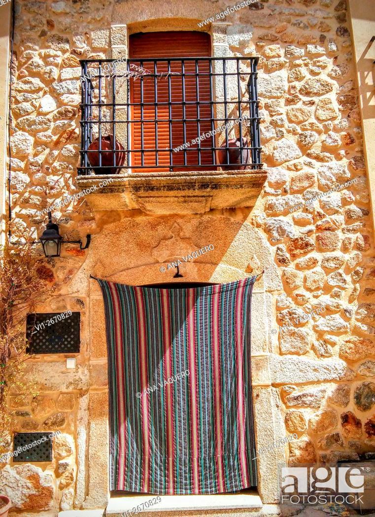 Stock Photo: Fachada Puerto de Santa Cruz, Cáceres, Extremadura, España.