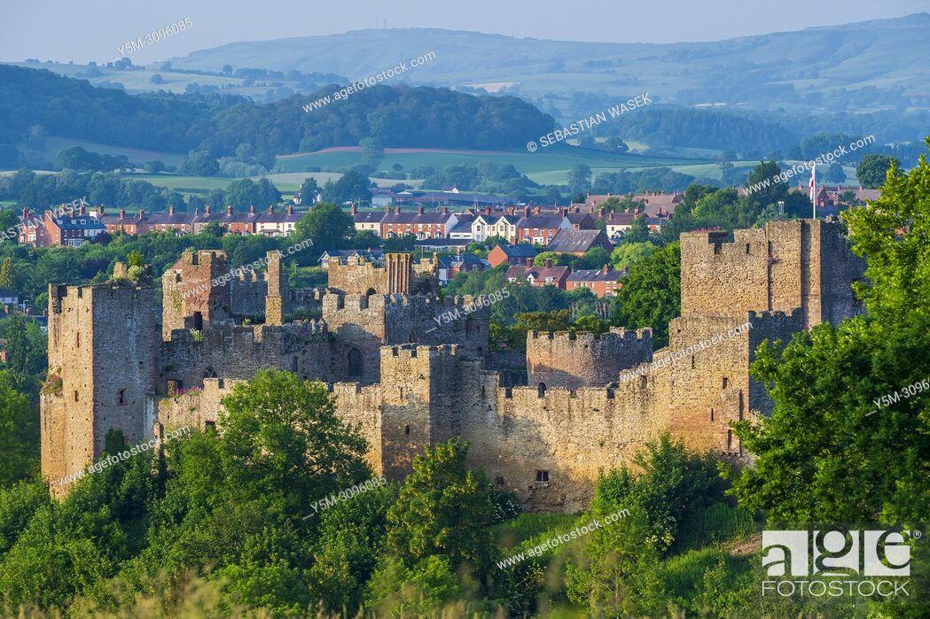 Stock Photo: Ludlow Castle, Shropshire, England, United Kingdom, Europe.