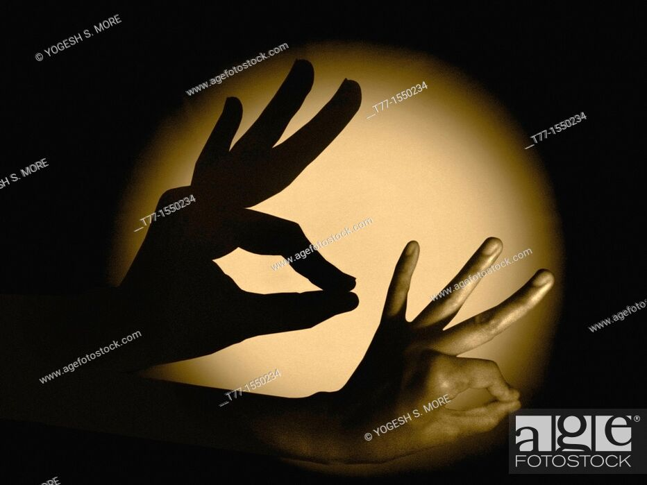 Stock Photo: Human Hand with Shadow.