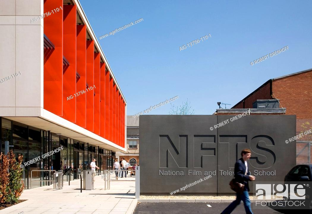 Stock Photo: Facade of the National Film and Television School, Beaconsfield, UK.