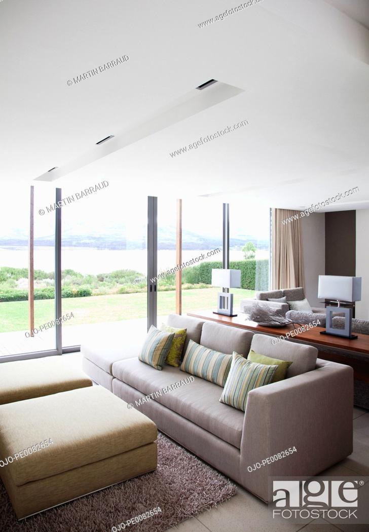 Stock Photo: Modern living room.
