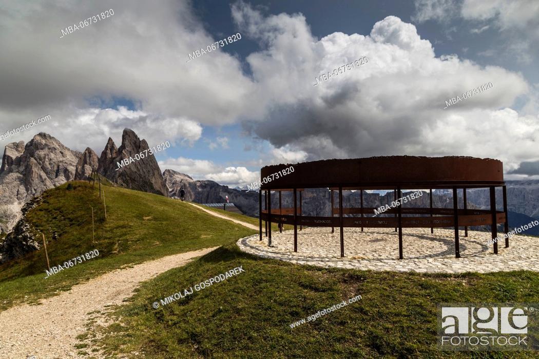 Stock Photo: Europe, Italy, Alps, Dolomites, Mountains, South Tyrol, Val Gardena, Geislergruppe, Seceda.