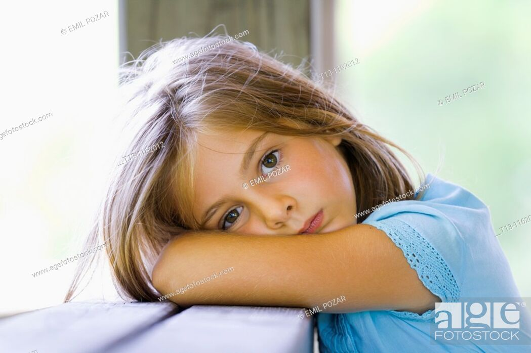 Stock Photo: 6-year old girl portrait.